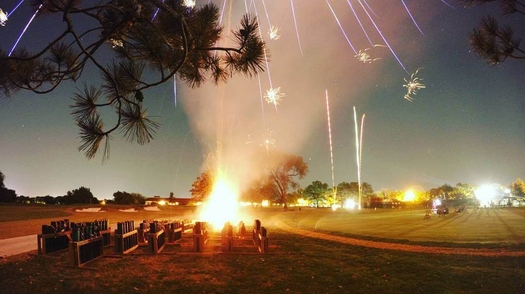 30 Second Long Exposure of Fireworks at the Wichita Country Club. Taken by Nicholas Coates using a GoPro Hero 4 Black